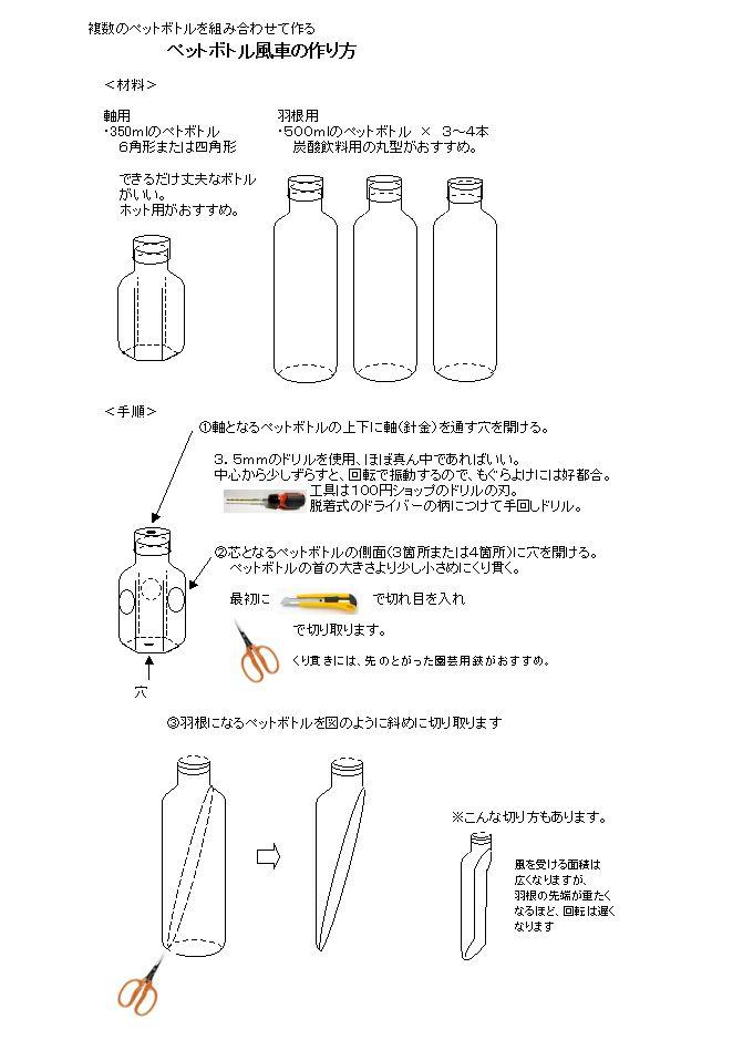 の 作り方 風車 ペット ボトル の